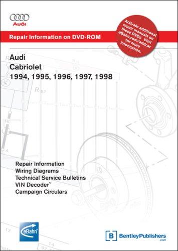 9780837612607: Audi Cabriolet 1994, 1995, 1996, 1997, 1998: Repair Manual on DVD-ROM (Windows 2000/XP)