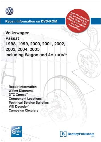 9780837612676: Volkswagen Passat 1998, 1999, 2000, 2001 2002, 2003, 2004, 2005: Repair Manual on DVD-ROM (Windows 2000/XP)