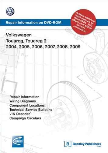9780837612690: Volkswagen Touareg, Touareg 2 2004, 2005, 2006, 2007, 2008, 2009: Repair Manual on DVD-ROM (Windows 2000/XP)