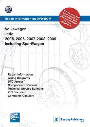 9780837613604: Volkswagen Jetta 2005, 2006, 2007, 2008, 2009: Repair Manual on DVD-ROM: Including Sportwagen