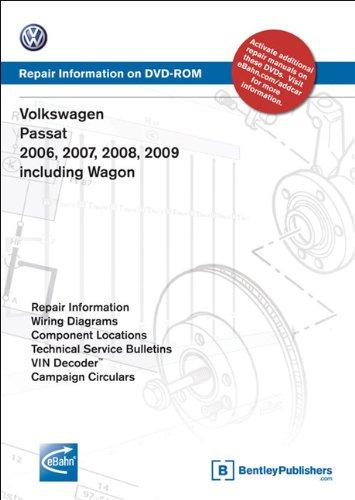 9780837613611: Volkswagen Passat 2006, 2007, 2008, 2009 includes Wagon: Repair Manual on DVD-ROM (Windows 2000/XP)