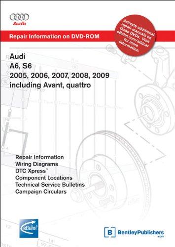 9780837613628: Audi A6, S6 2005, 2006, 2007, 2008, 2009 including Avant, quattro: Repair Manual on DVD-ROM (Windows 2000/XP)