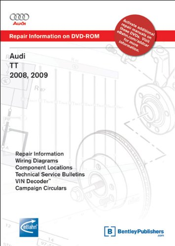 9780837615431: Audi Tt 2008, 2009: Repair Manual on DVD-ROM