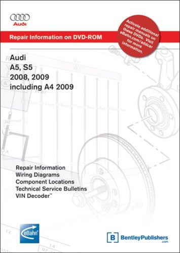 9780837615547: Audi A5, S5 2008, 2009; A4 2009: Repair Manual on DVD-ROM (Windows 2000/XP)