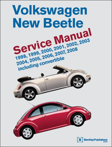 9780837615592: Volkswagen New Beetle: Service Manual : 1998, 1999, 2000, 2001, 2002, 2003, 2004, 2005, 2006, 2007, 2008, Including Convertible
