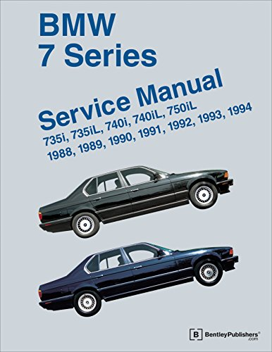 9780837616193: BMW 7 Series (E32) Service Manual: 1988, 1989, 1990, 1991, 1992, 1993, 1994