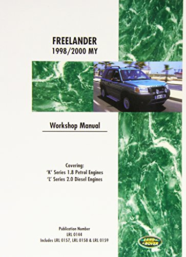 9780837616315: Land Rover Freelander (Lr2) Official Workshop Manual: 1998, 1999, 2000: Covering K Series 1.8 Petrol Engines & L Series 2.0 Diesel Engines