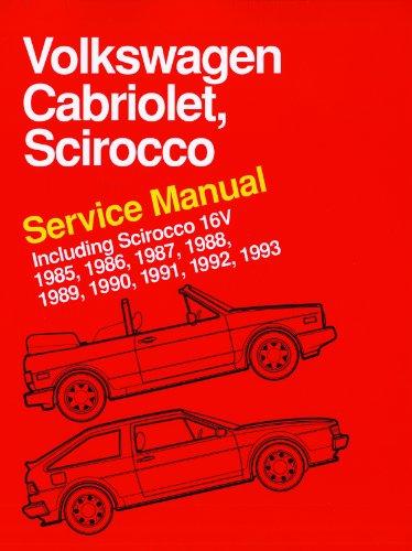 9780837616360: Volkswagen Cabriolet, Scirocco Service Manual 1985, 1986, 1987, 1988, 1989, 1990, 1991, 1992, 1993: Including Scirocco 16V