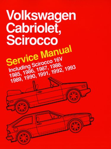 9780837616360: Volkswagen Cabriolet, Scirocco Service Manual: 1985, 1986, 1987, 1988, 1989, 1990, 1991, 1992, 1993: Including Scirocco 16v