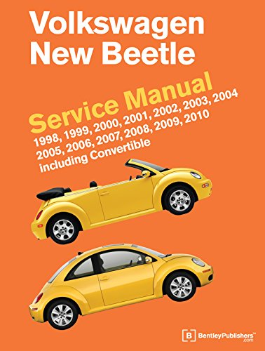 9780837616407: Volkswagen New Beetle Service Manual: 1998, 1999, 2000, 2001, 2002, 2003, 2004, 2005, 2006, 2007, 2008, 2009, 2010: Including Convertible