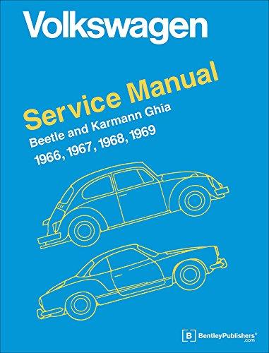 9780837616469: Volkswagen Beetle and Karmann Ghia Service Manual, Type 1: 1966, 1967, 1968, 1969