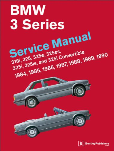 9780837616476: BMW 3 Series Service Manual 1984-1990