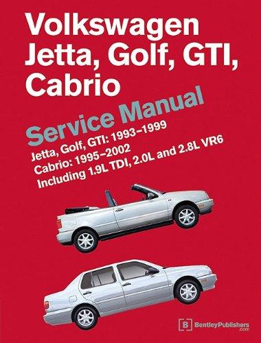 9780837616605: Volkswagen Jetta, Golf, GTI: 1993, 1994, 1995, 1996, 1997, 1998, 1999 Cabrio: 1995, 1996, 1997, 1998, 1999, 2000, 2001, 2002 (A3 Platform) Service Manual