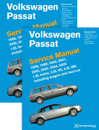 9780837616698: Volkswagen Passat (B5) Service Manual: 1998, 1999, 2000, 2001, 2002, 2003, 2004, 2005: 1.8l Turbo, 2.8l V6, 4.0l W8 Including Wagon and 4motion, 2 Volúmenes