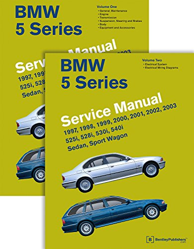 9780837616728: BMW 5 Series 2 Vol (E39 Service Manual: 1997, 1998, 1999, 2000, 2001, 2002, 2003: 525i, 528i, 530i, 540i, Sedan, Sport Wagon