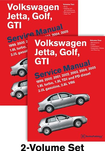 9780837616780: Volkswagen Jetta, Golf, GTI (A4) Service Manual: 1999, 2000, 2001, 2002, 2003, 2004, 2005 - 2 VOLUME SET