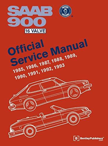 9780837616933: SAAB 900 16 Valve Official Service Manual: 1985-1993 (Workshop Manual)