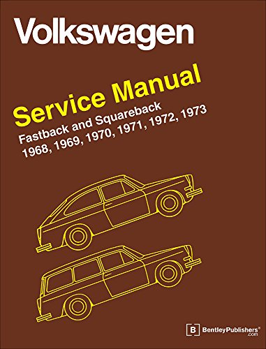 9780837617008: Volkswagen Fastback and Squareback (Type 3) Service Manual: 1968-1973