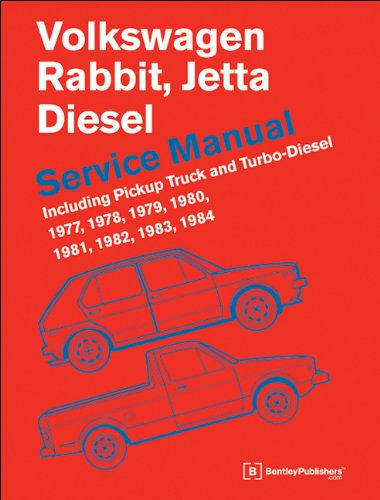 9780837617039: Volkswagen Rabbit, Jetta (A1 Diesel Service Manual 1977, 1978, 1979, 1980, 1981, 1982, 1984, 1984: Including Pickup Truck and Turbo Diesel