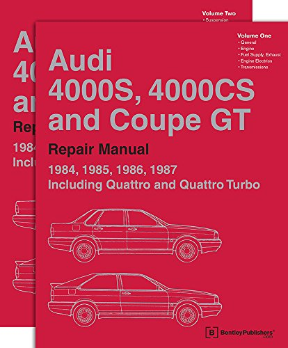 9780837617060: Audi 4000S, 4000CS and Coupe GT (B2): 1984-1987 Repair Manual: Audi 4000s, 4000cs and Coupe GT: 1984-1987 Repair Manual
