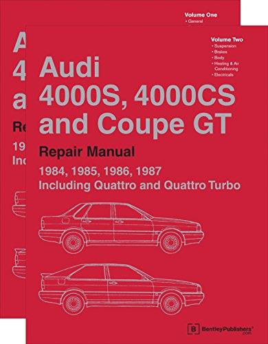 9780837617565: Audi 4000S, 4000CS and Coupe GT (B2) Repair Manual: 1984, 1985, 1986, 1987 (2 VOLUME SET)