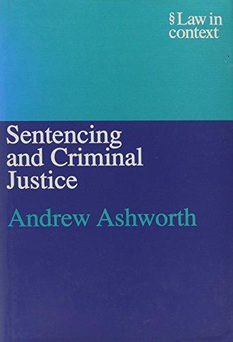 9780837702254: Sentencing and Criminal Justice