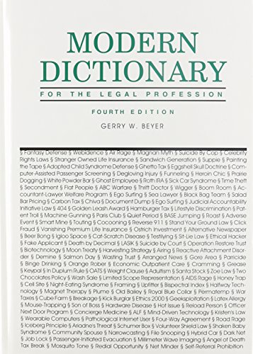 9780837715438: Modern Dictionary for the Legal Profession