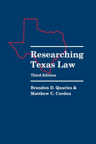 9780837738604: Researching Texas Law, 3rd Edition
