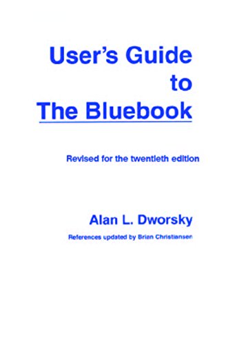 9780837740171: User's Guide to the Bluebook