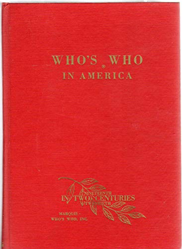9780837901459: Who's Who in America
