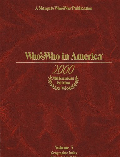 Who's Who in America 2000 Millennium Edition *3 Volumes*: Marks, Fred (Editorial Director)