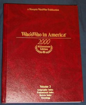 9780837902029: Who's Who in America 2000 Millennium Edition Vol. 3 (Volume 3)