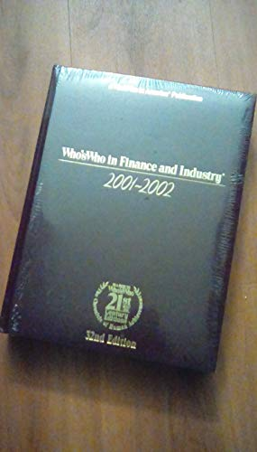 9780837903347: Who's Who in Finance and Industry 2000-2001