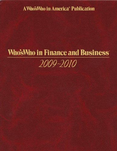 Whos Who in Finance and Business 2009-2010 -37th Edition (Who's Who in Finance and Business) (...