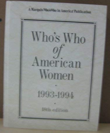 9780837904184: Who's Who of American Women, 1993-94