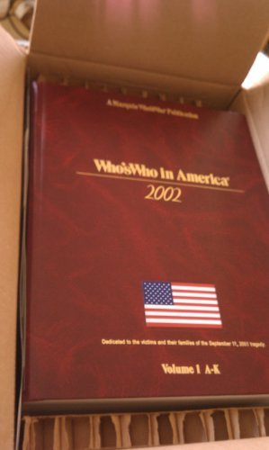 9780837969589: Who's Who in America 2002 (Who's Who in America, 56th ed)
