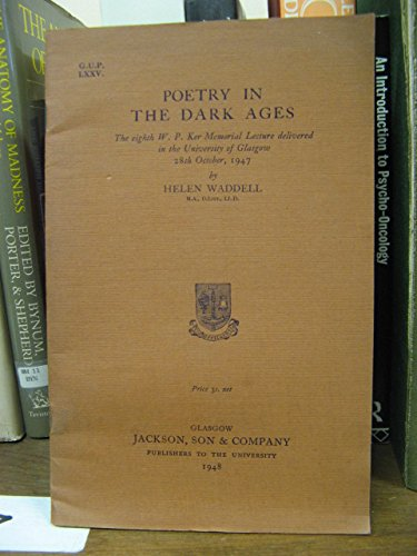 9780838300794: Poetry in the Dark Ages