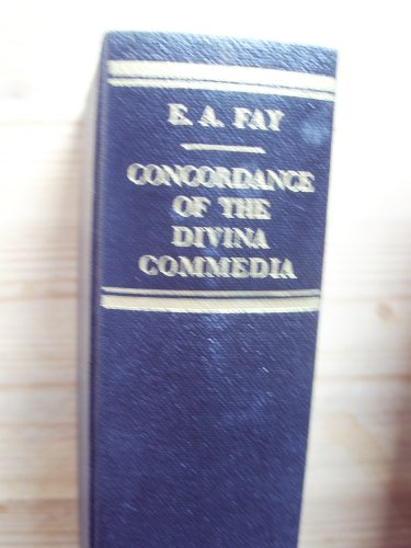 9780838301838: Concordance of the Divina Commedia