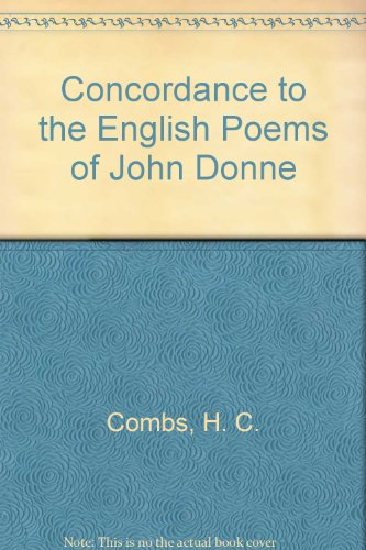 9780838309698: Concordance to the English Poems of John Donne