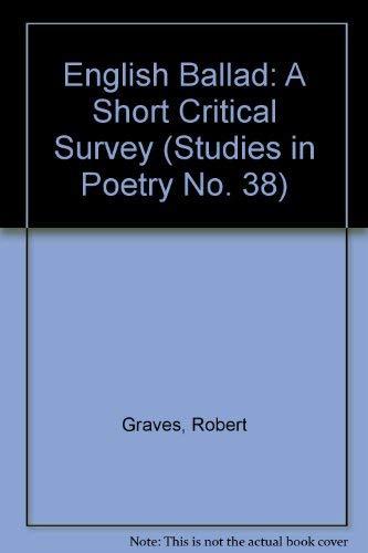 English Ballad: Robert Graves