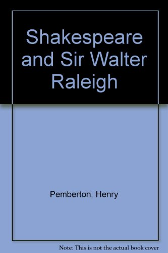 9780838313404: Shakespeare Sir Walter Raleigh