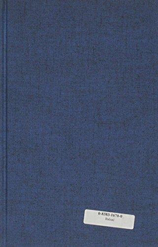 9780838316702: Balzac: A Critical Study