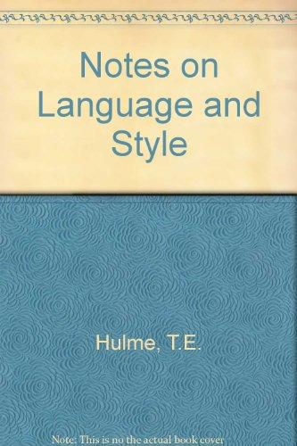 9780838320174: Notes on Language & Style