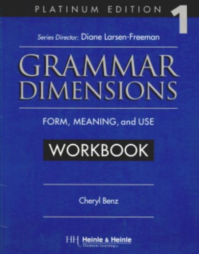9780838402665: Grammar Dimensions 1, Platinum Edition Workbook