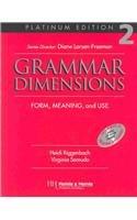 9780838402702: Grammar Dimensions 2, Platinum Edition Text/Audio Tape Package