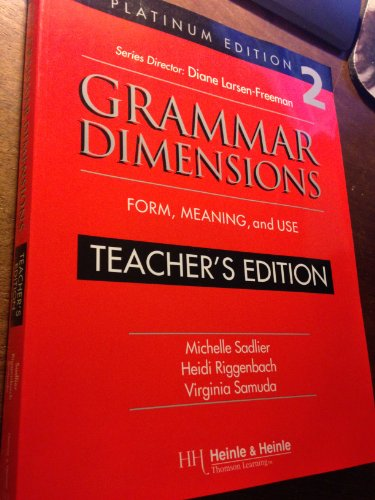 9780838402757: Grammar Dimensions Book 2: Platinum Edition : Form, Meaning, and Use