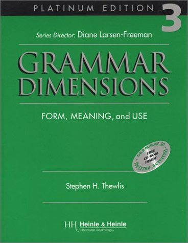 9780838402771: Grammar Dimensions 3, Platinum Edition: Form, Meaning, and Use