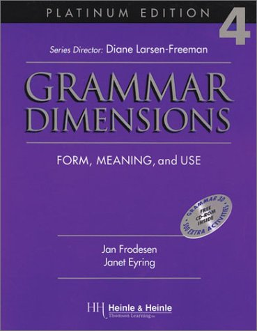 9780838402863: Grammar Dimensions: Form, Meaning and Use (Platinum Edition 4)