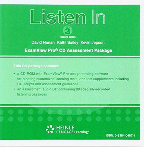 9780838404874: Listen in 3: Listen In 3: Assessment CD-ROM with ExamView (R) & Audio CD Examview Assessment Package