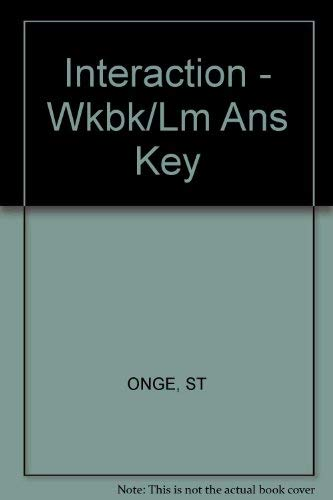 9780838406113: Workbook/Lab Manual Answer Key for Interaction: Revision de grammaire française, 6th